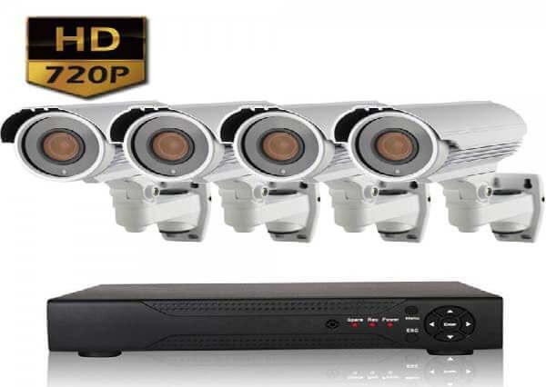 Готовые комплекты видеонаблюдения для квартир - 4 камеры
