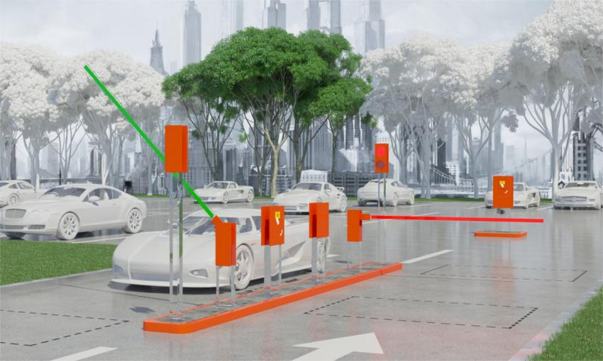 Автоматическая система парковки с наличием паркомата
