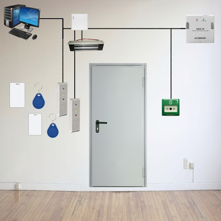 Сетевой контроль доступа на одну дверь